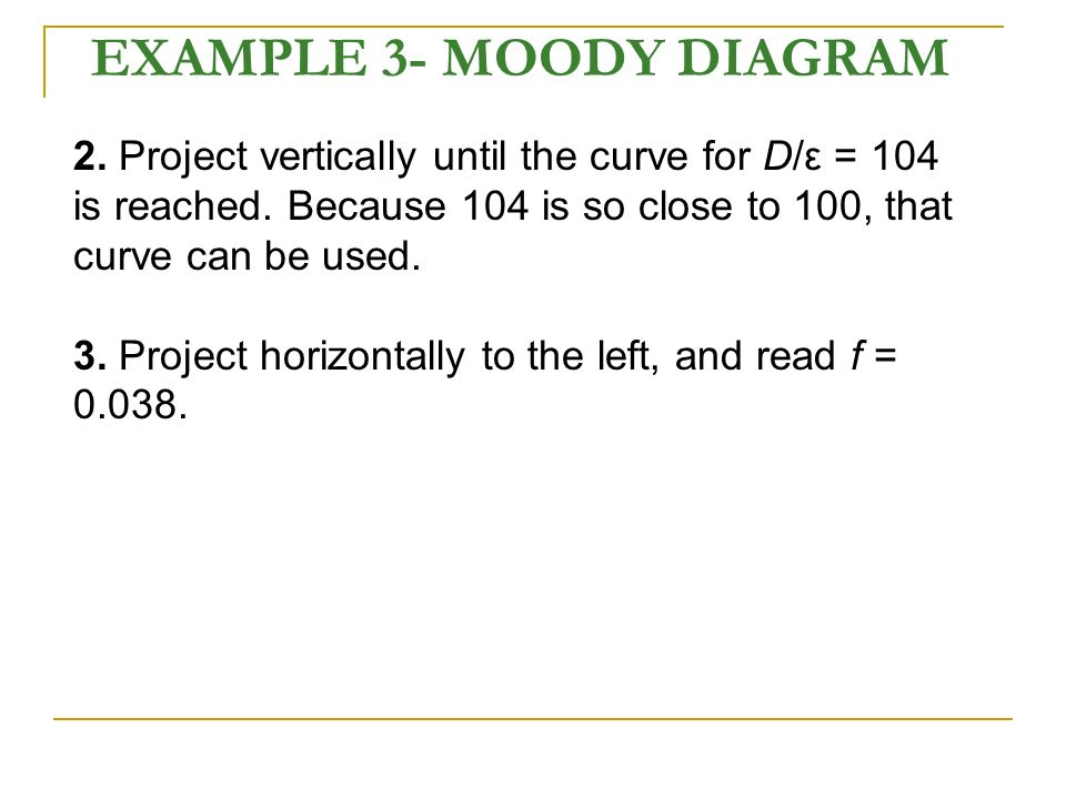 Flow in pipes applications heating cooling fluid distributions example 3 moody diagram ccuart Images