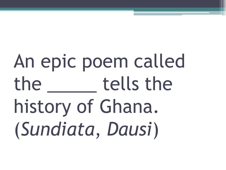 an epic story sundiata essay Read this essay on sundiata: an epic of old mali come browse our large digital warehouse of free sample essays get the knowledge you need in order to pass your classes and more the story of sundiata begins before his birth.