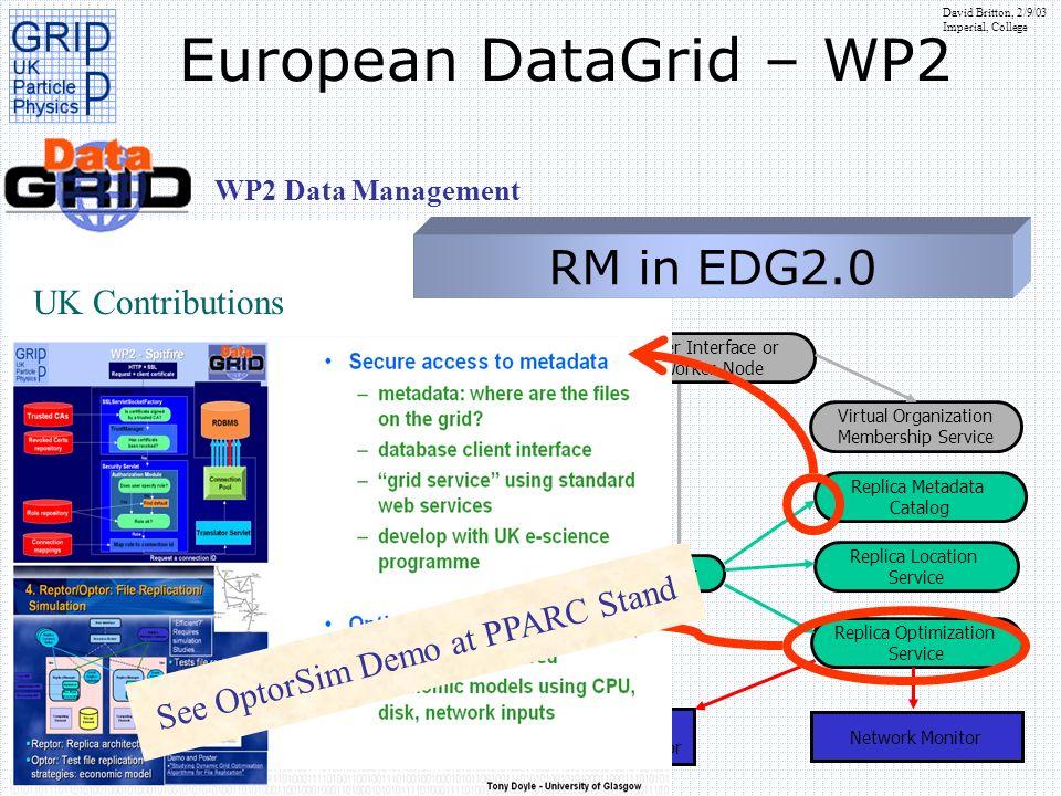 See OptorSim Demo at PPARC Stand