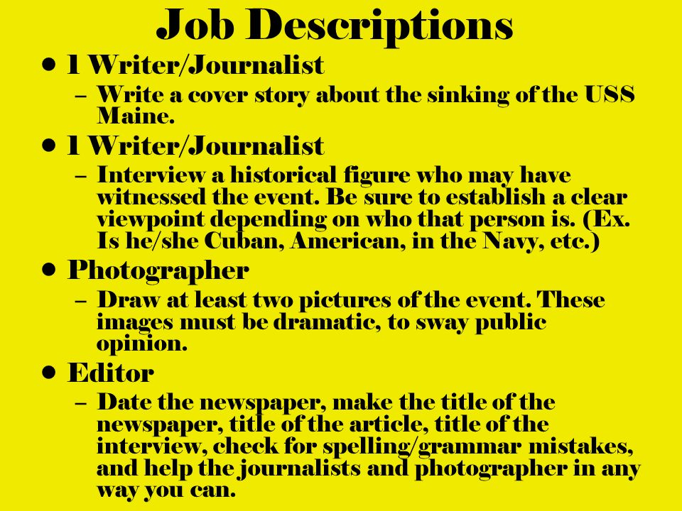 how to make a good title for journalism