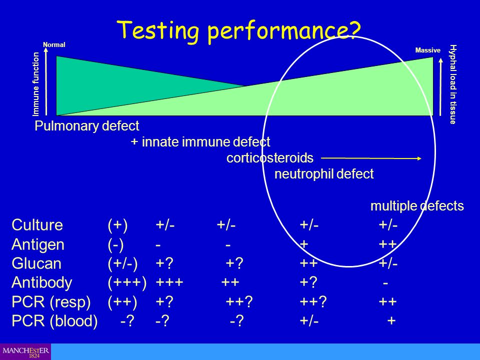 Testing performance Culture (+) +/- +/- +/- +/- Antigen (-) - - + ++