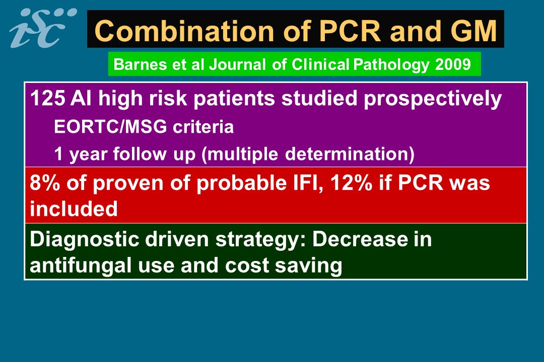 Combination of PCR and GM