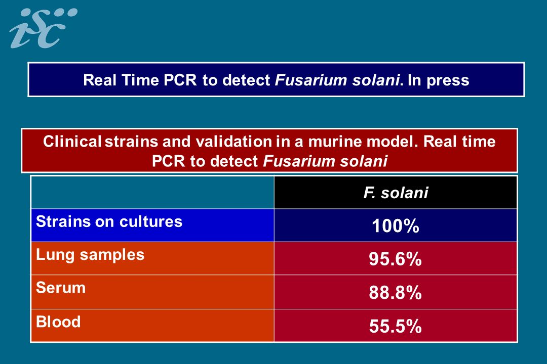 Real Time PCR to detect Fusarium solani. In press