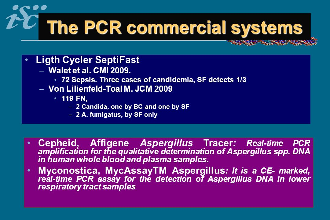 The PCR commercial systems