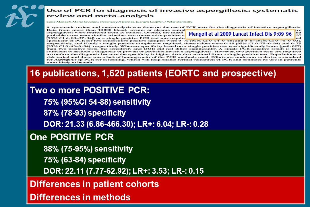 16 publications, 1,620 patients (EORTC and prospective)