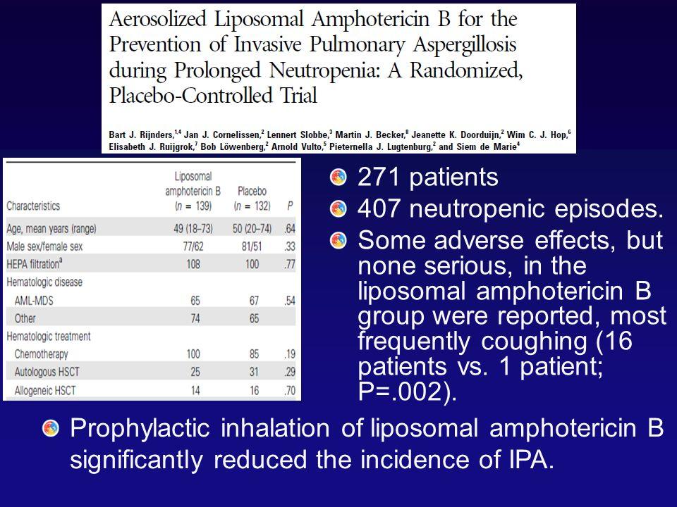 271 patients 407 neutropenic episodes.