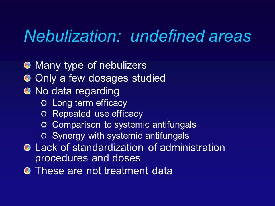 Nebulization: undefined areas