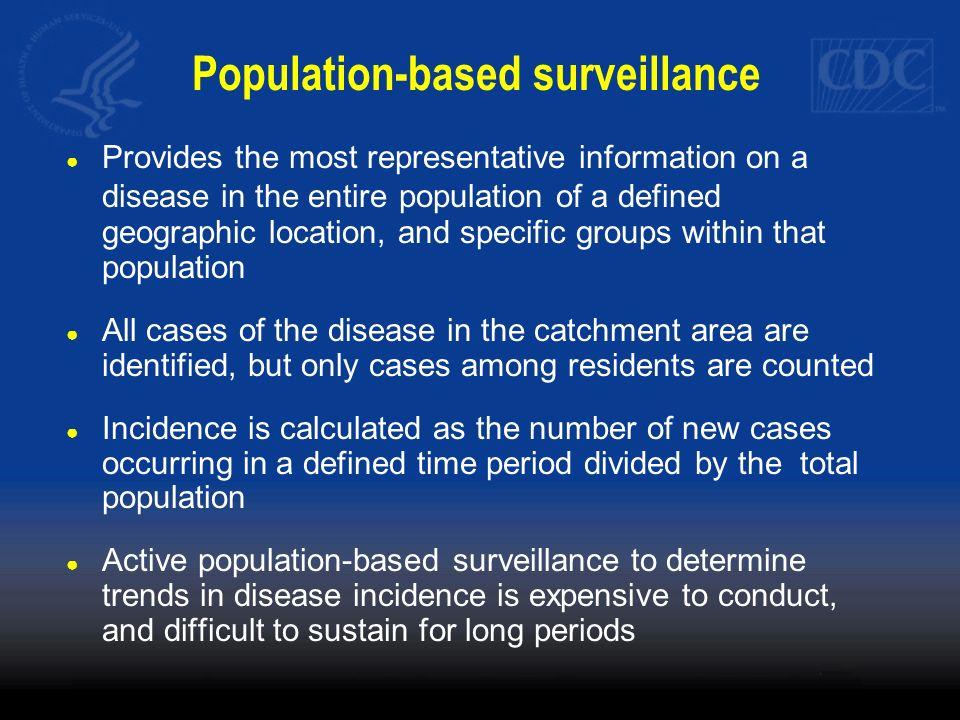 Population-based surveillance