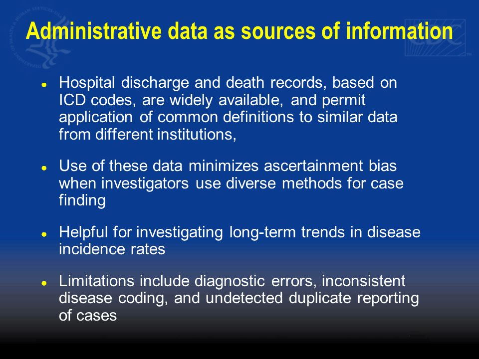 Administrative data as sources of information