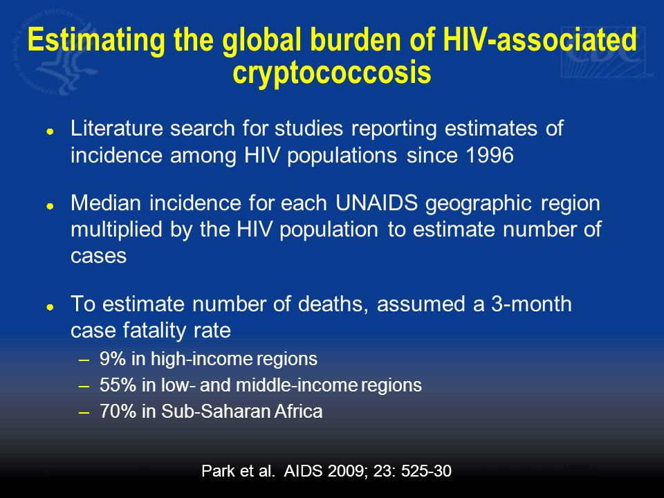 Estimating the global burden of HIV-associated cryptococcosis