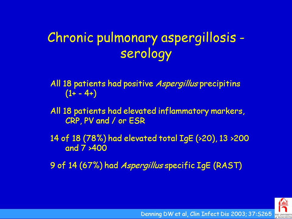 Chronic pulmonary aspergillosis - serology