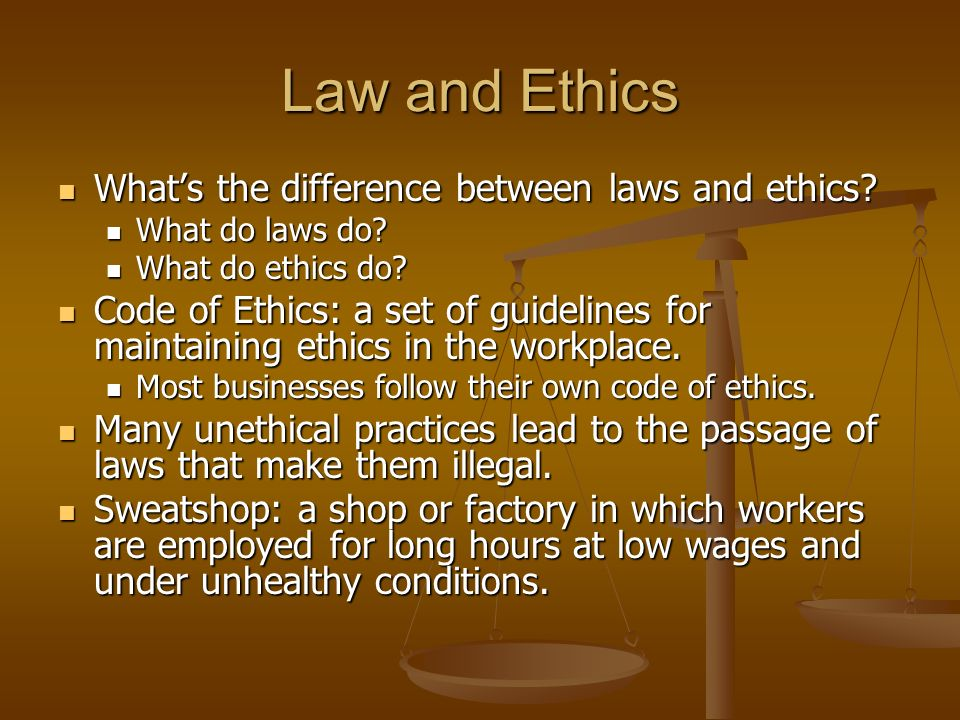 """define and contrast the three ethical Law is moral to the extent those interests are moral ergo, often not  please  give us your definition of """"moral or ethical rul es accepted  3  recommendations."""