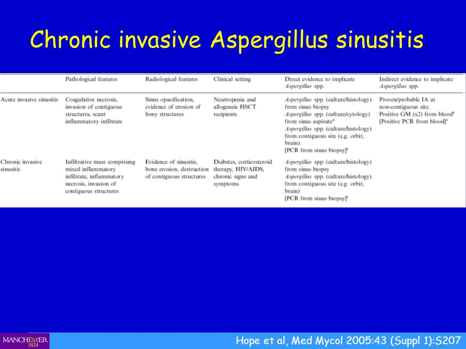 Chronic invasive Aspergillus sinusitis