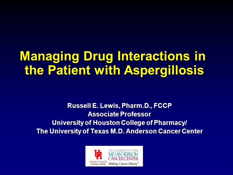 Managing Drug Interactions in the Patient with Aspergillosis