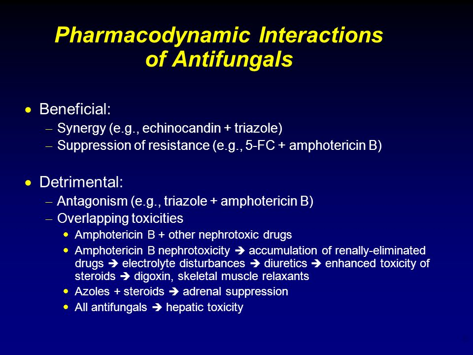 Pharmacodynamic Interactions of Antifungals