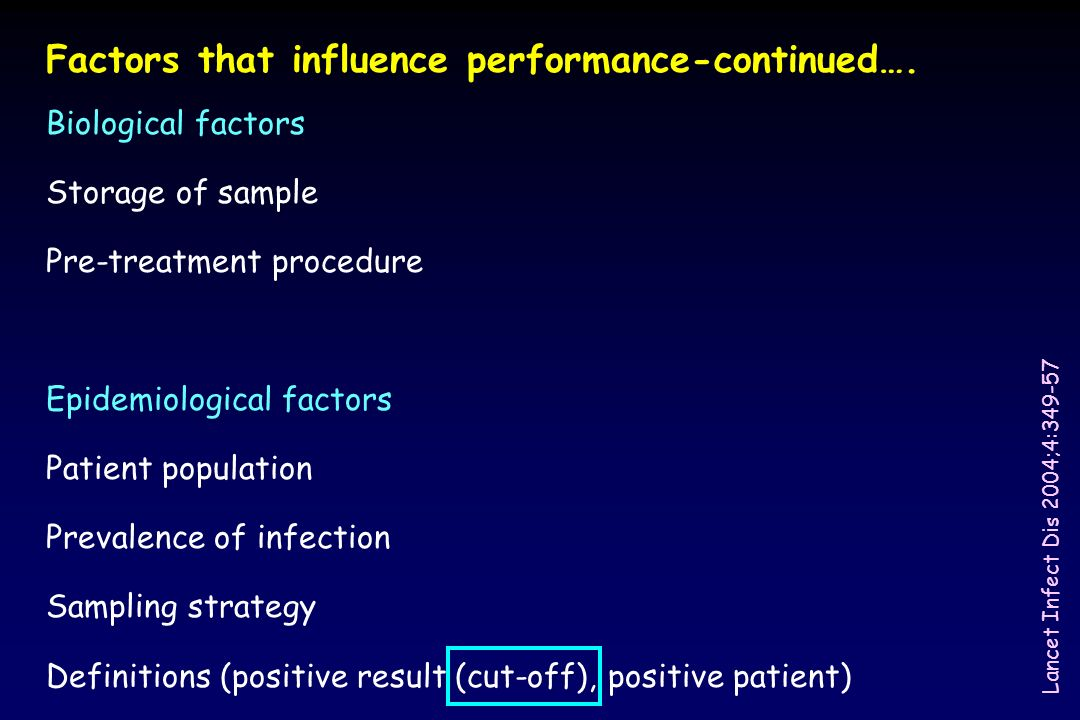 Factors that influence performance-continued….