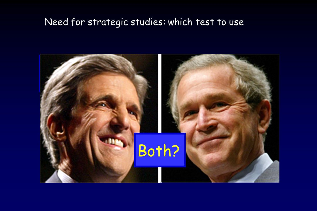 Need for strategic studies: which test to use