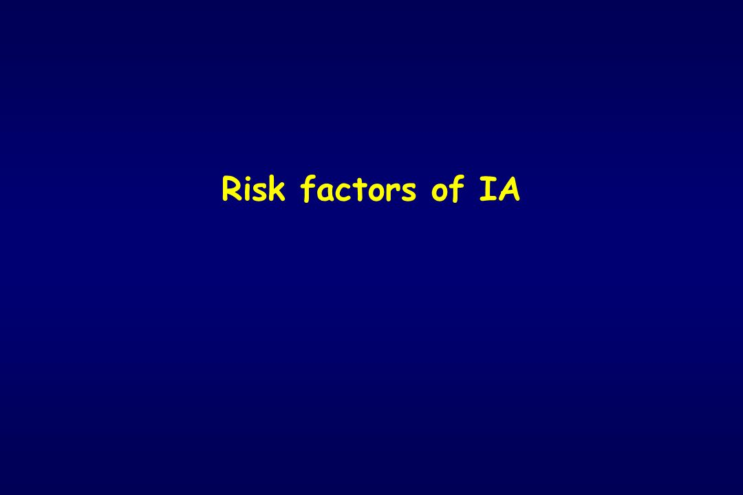 Risk factors of IA