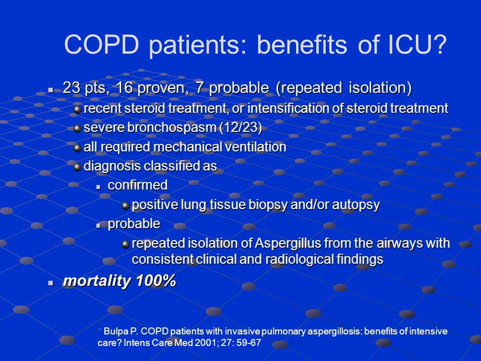 COPD patients: benefits of ICU