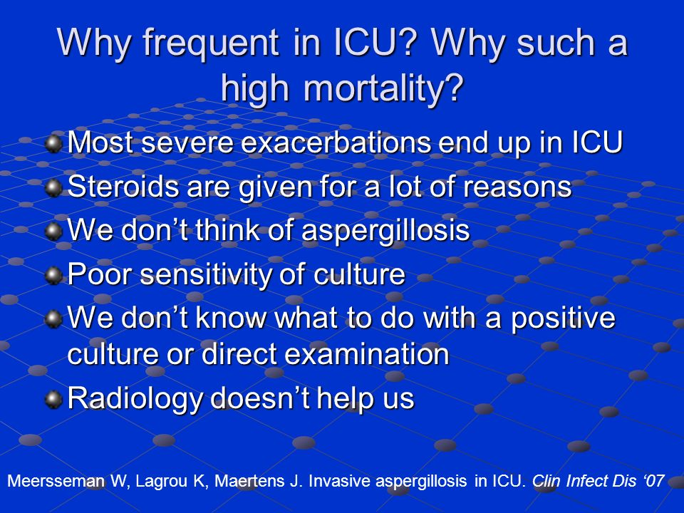 Why frequent in ICU Why such a high mortality