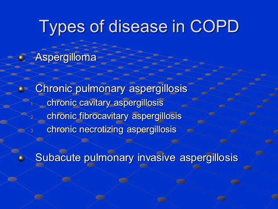 Types of disease in COPD