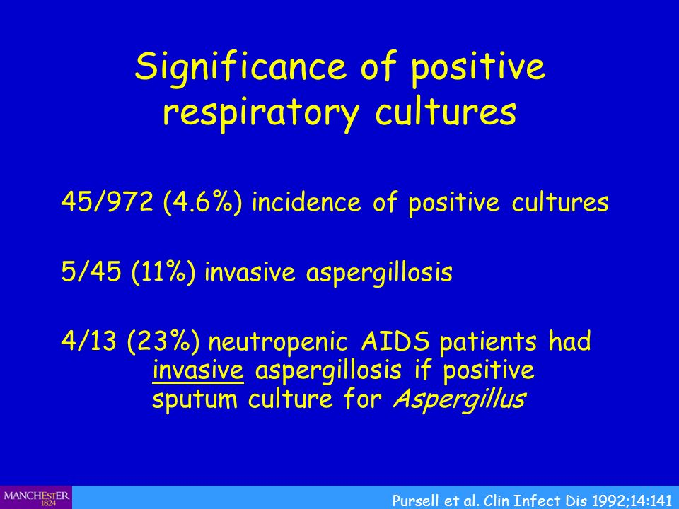 Significance of positive respiratory cultures