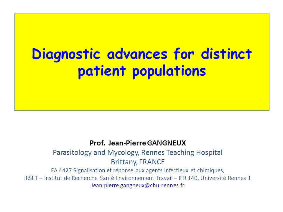 Diagnostic advances for distinct patient populations