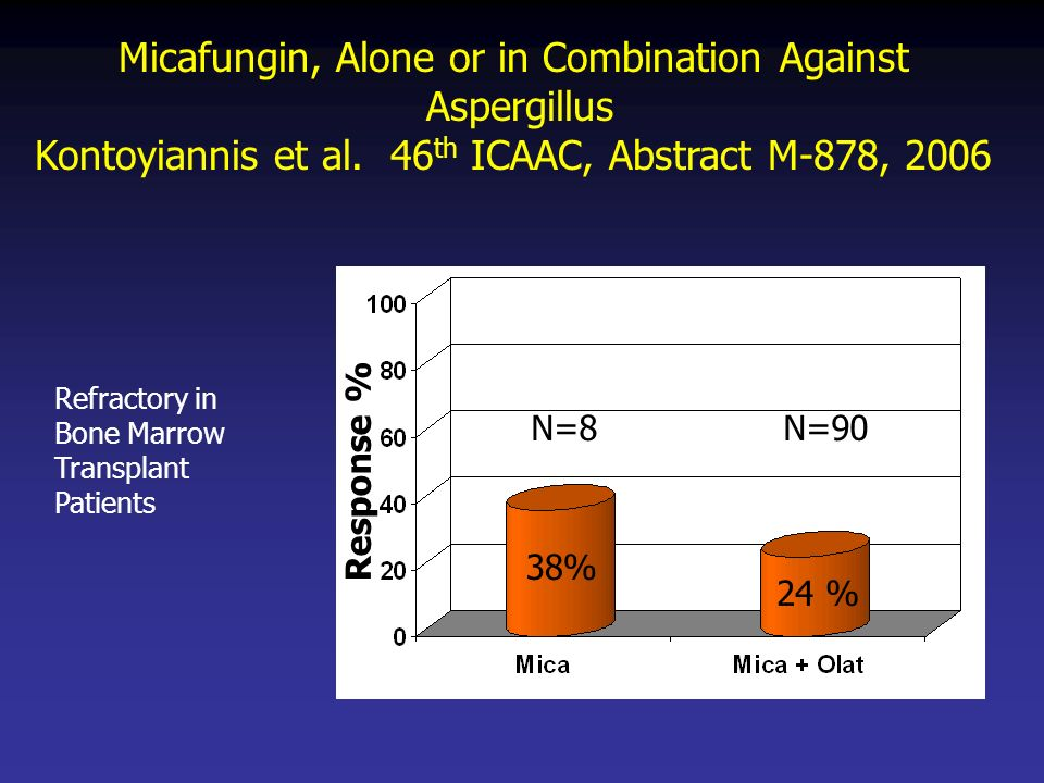Micafungin, Alone or in Combination Against Aspergillus