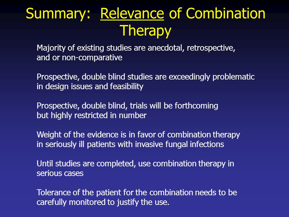Summary: Relevance of Combination Therapy
