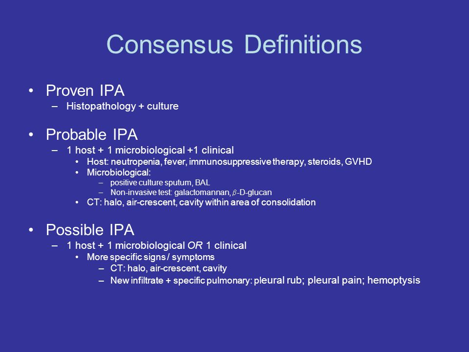 Consensus Definitions
