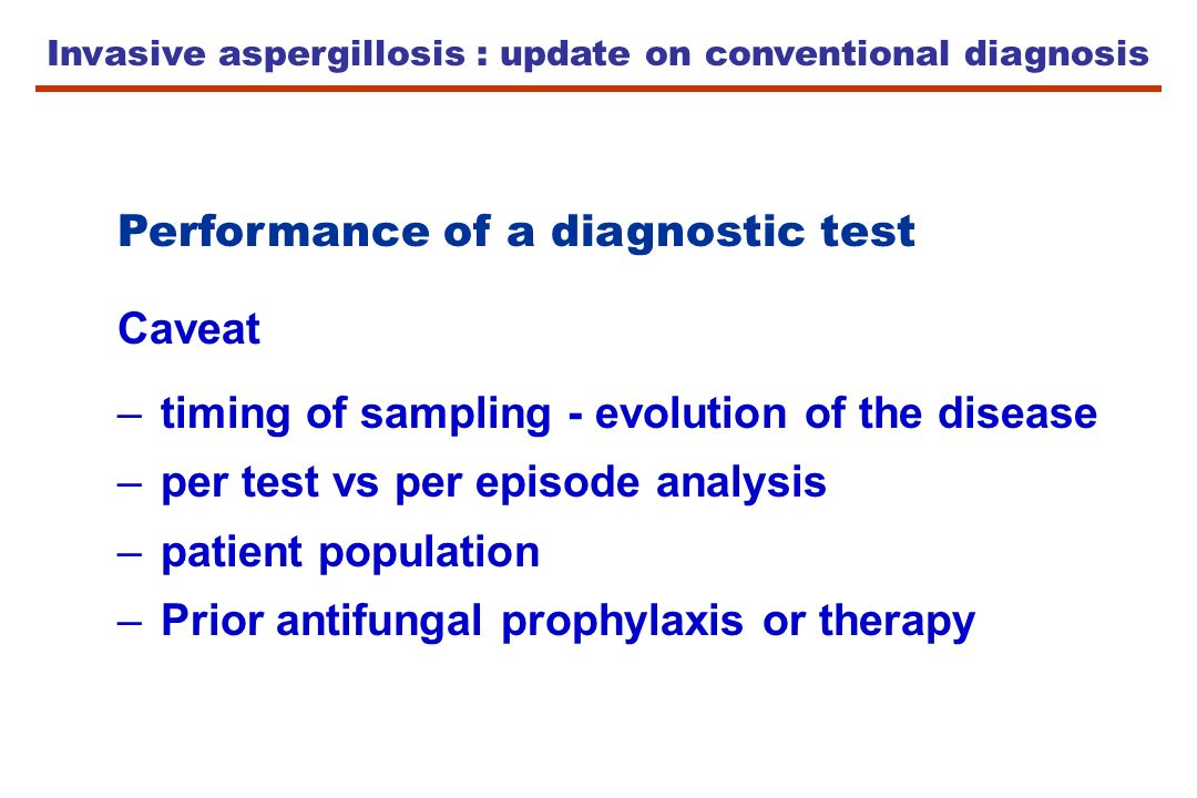 Invasive aspergillosis : update on conventional diagnosis