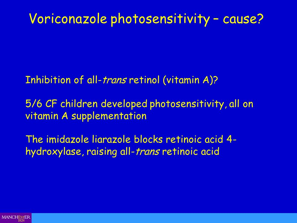 Voriconazole photosensitivity – cause
