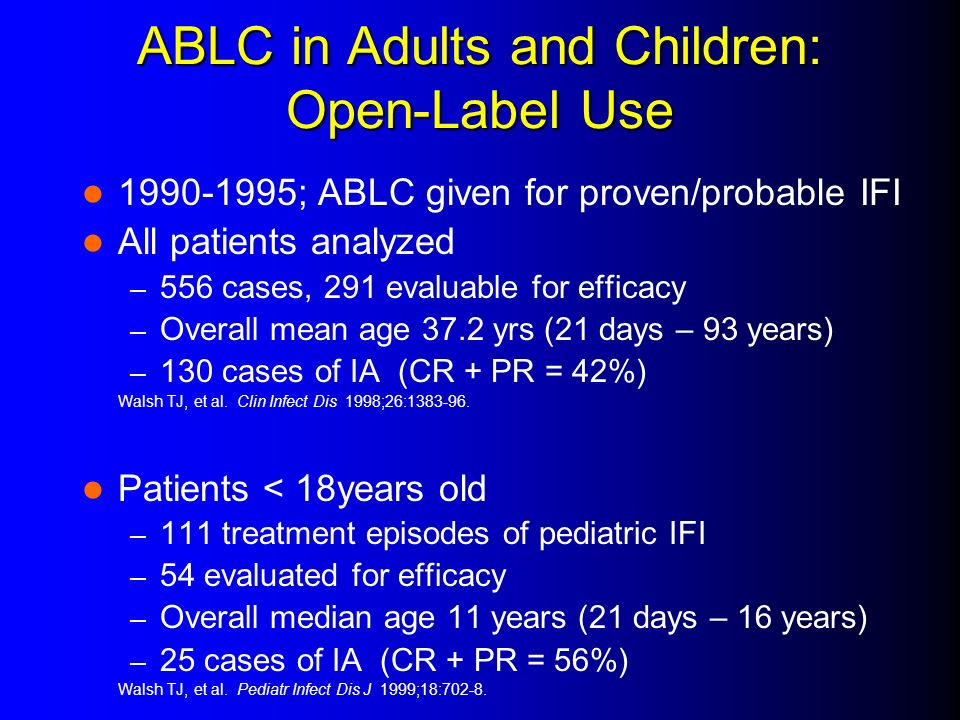 ABLC in Adults and Children: Open-Label Use