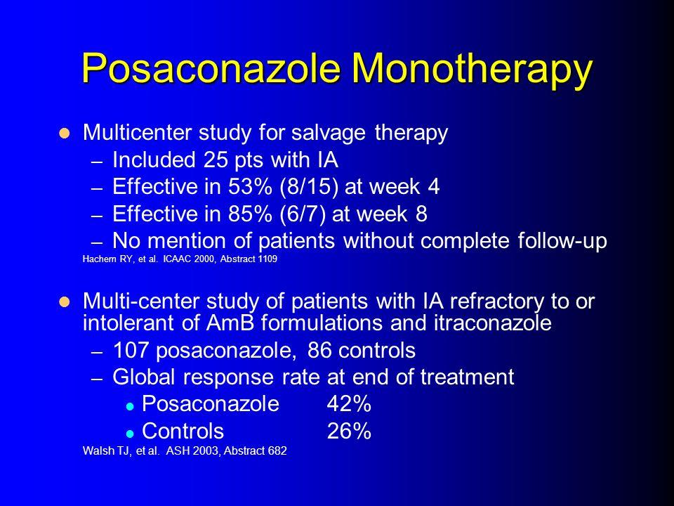 Posaconazole Monotherapy