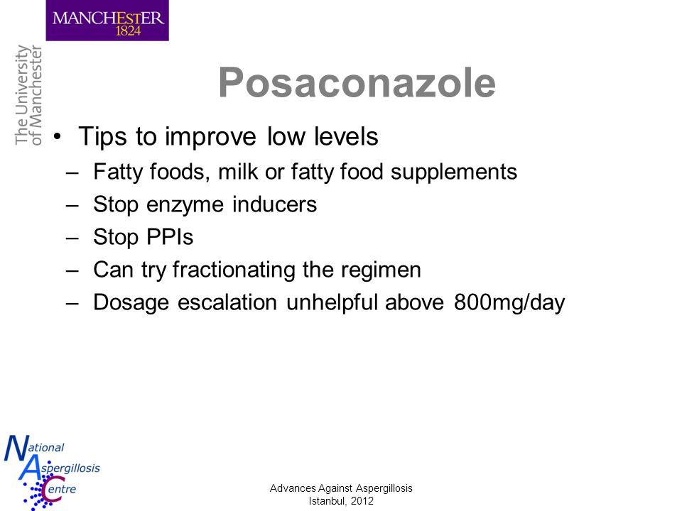 Posaconazole Tips to improve low levels