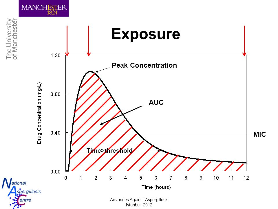 Exposure Peak Concentration AUC MIC Time>threshold