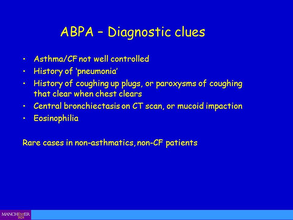 ABPA – Diagnostic clues