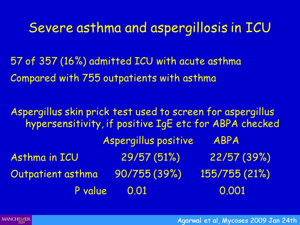 Severe asthma and aspergillosis in ICU