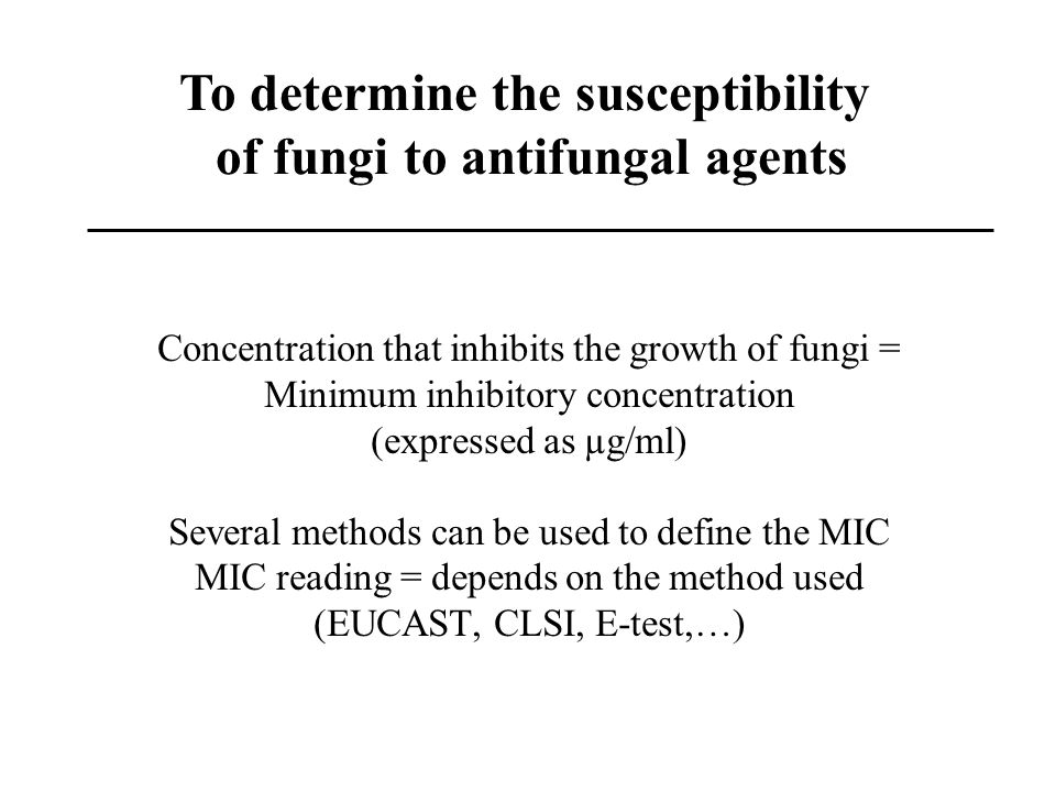 To determine the susceptibility of fungi to antifungal agents