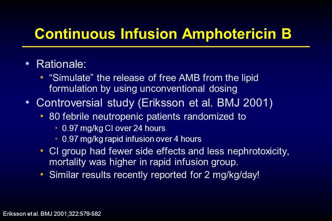 Continuous Infusion Amphotericin B
