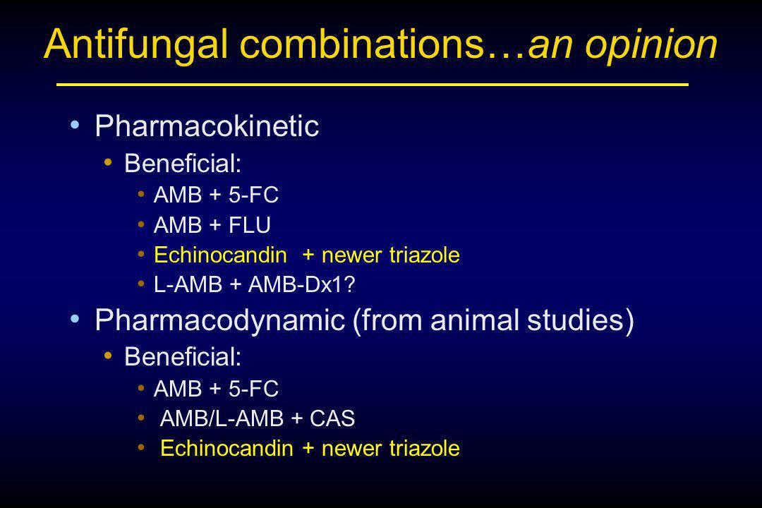 Antifungal combinations…an opinion