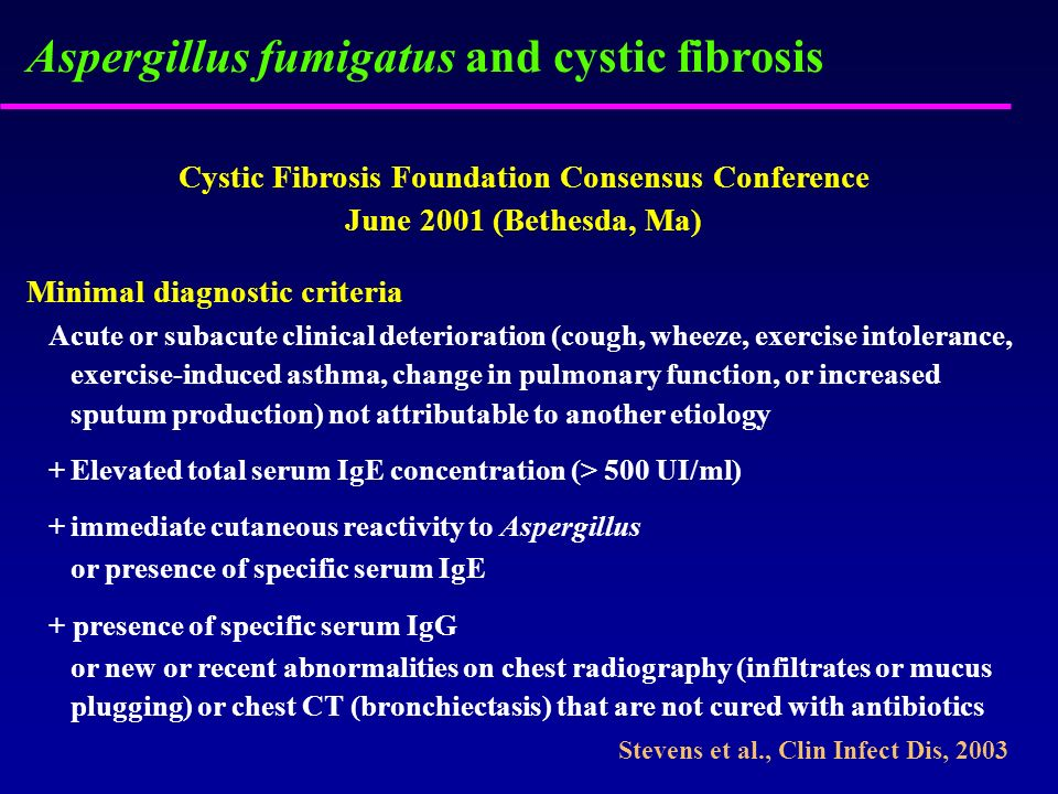 Cystic Fibrosis Foundation Consensus Conference