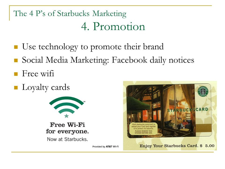 marketing mix starbucks essay example Starbucks marketing plan essay example show related essays starbucks marketing plan this is a preview of the 7-page document read full text starbucks coffee is a brand that is synonymous with higher status social groups.