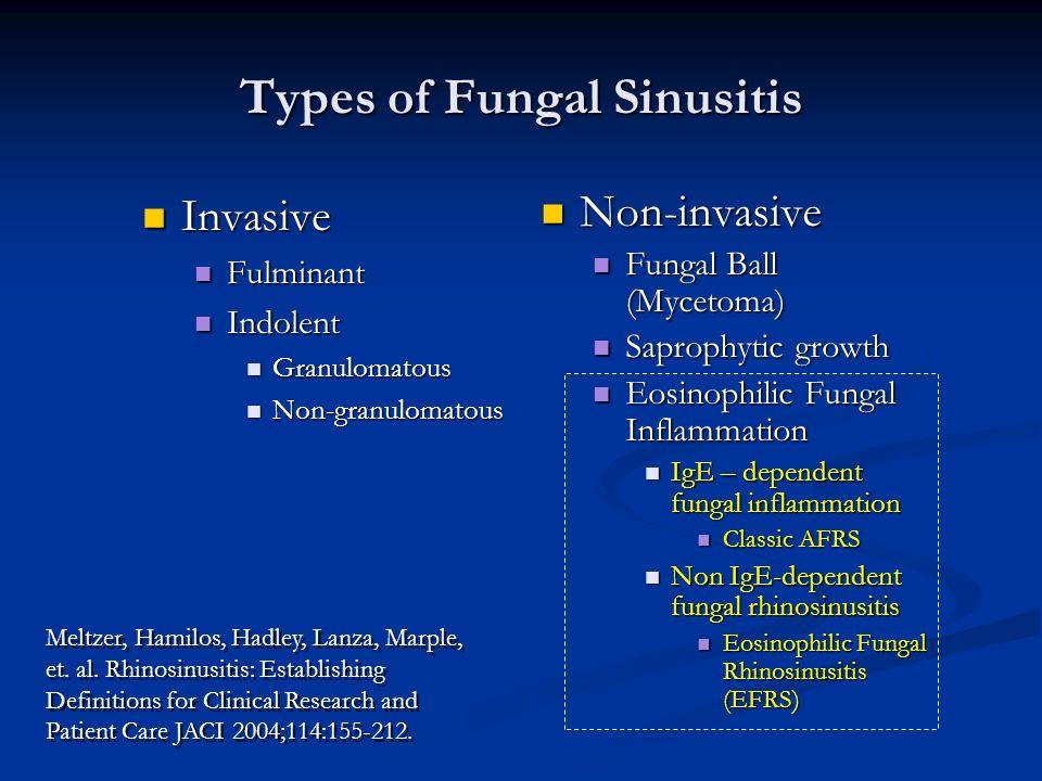 Types of Fungal Sinusitis
