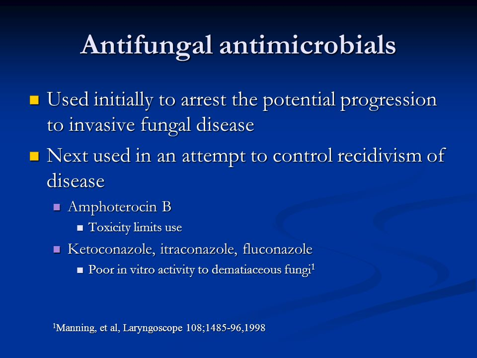 Antifungal antimicrobials