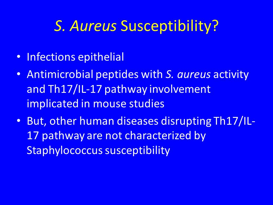 S. Aureus Susceptibility