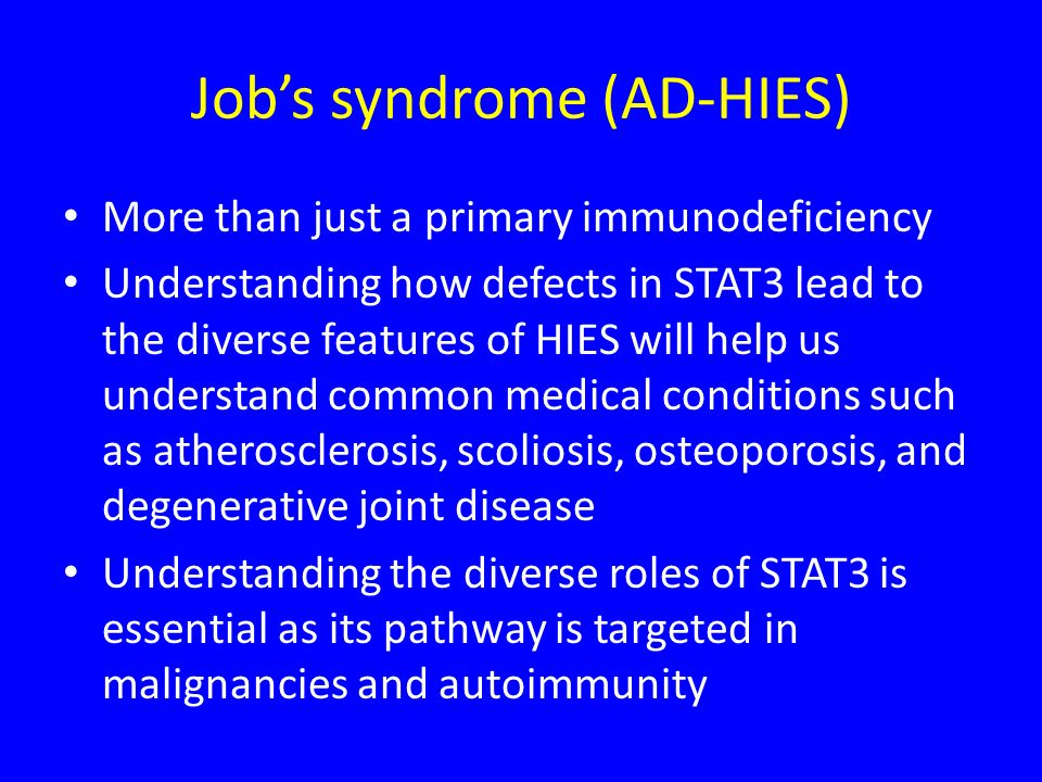 Job's syndrome (AD-HIES)