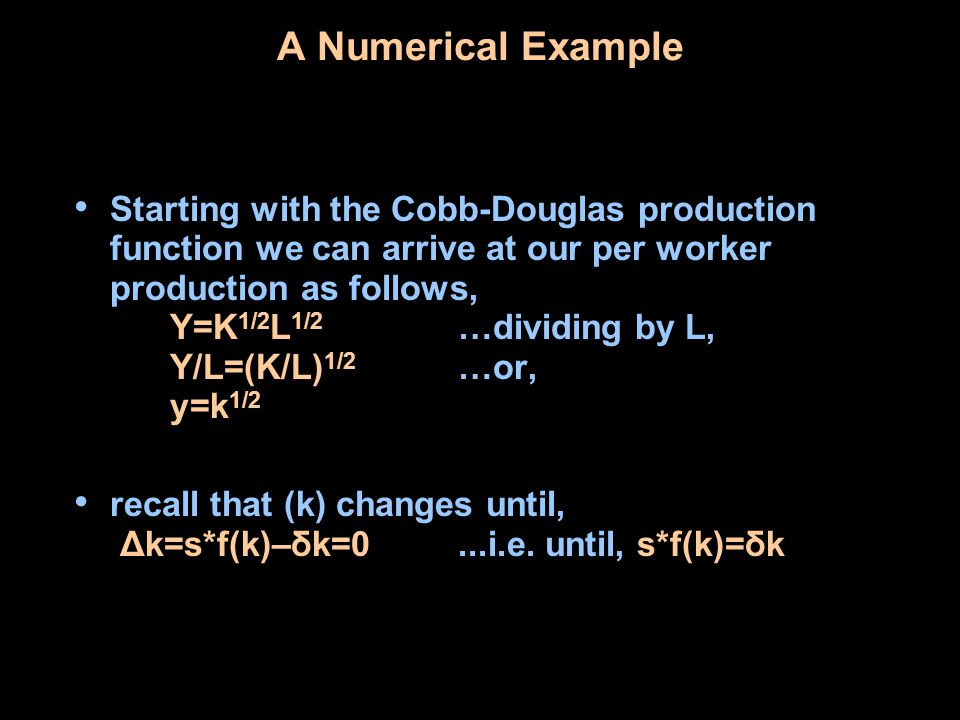 A Numerical Example