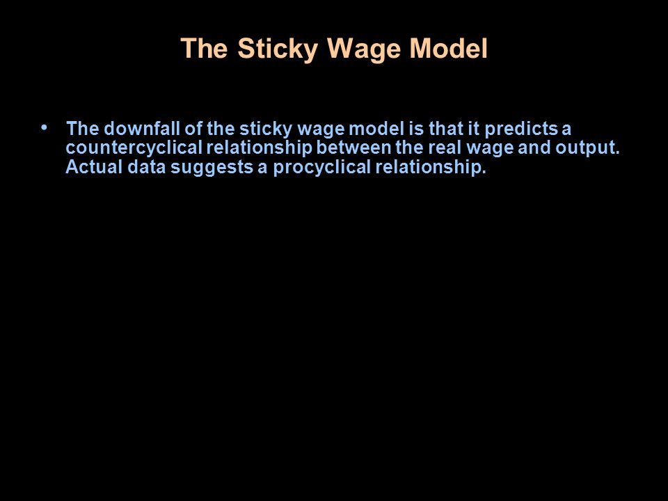 The Sticky Wage Model