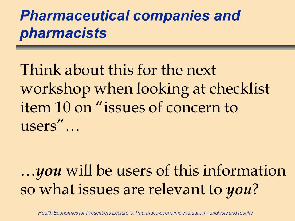 Pharmaceutical companies and pharmacists